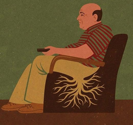 Ngồi lâu gây hại cho sức khỏe (Ảnh: Internet)