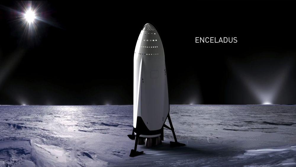 Tàu vũ trụ ITS nạp nhiên liệu trên mặt trăng Enceladus của sao Thổ