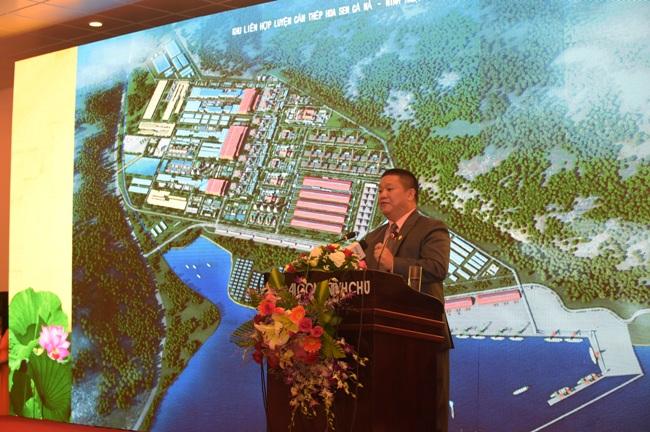 Chủ tịch HĐQT Tập đoàn Hoa Sen Lê Phước Vũ phát biểu tại hội nghị. (Ảnh: Tạp chí điện tử Lao động và Xã hội)