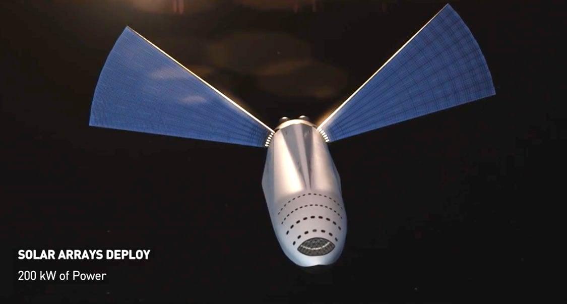 Tàu ITS sẽ sử dụng 2 tấm năng lượng mặt trời với công suất 200 kW trên hành trình tới sao Hỏa