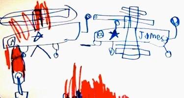 Một bức vẽ của cậu bé James Leininger