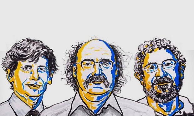 Bộ ba nhà khoa học người Anh vừa đoạt giải Nobel Vật lý 2016 (Ảnh: NobelPrize.org)