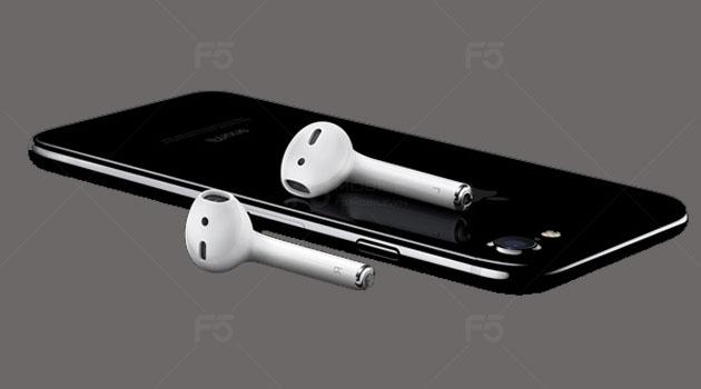 Điện thoại iPhone 7 và cặp tai nghe không dây