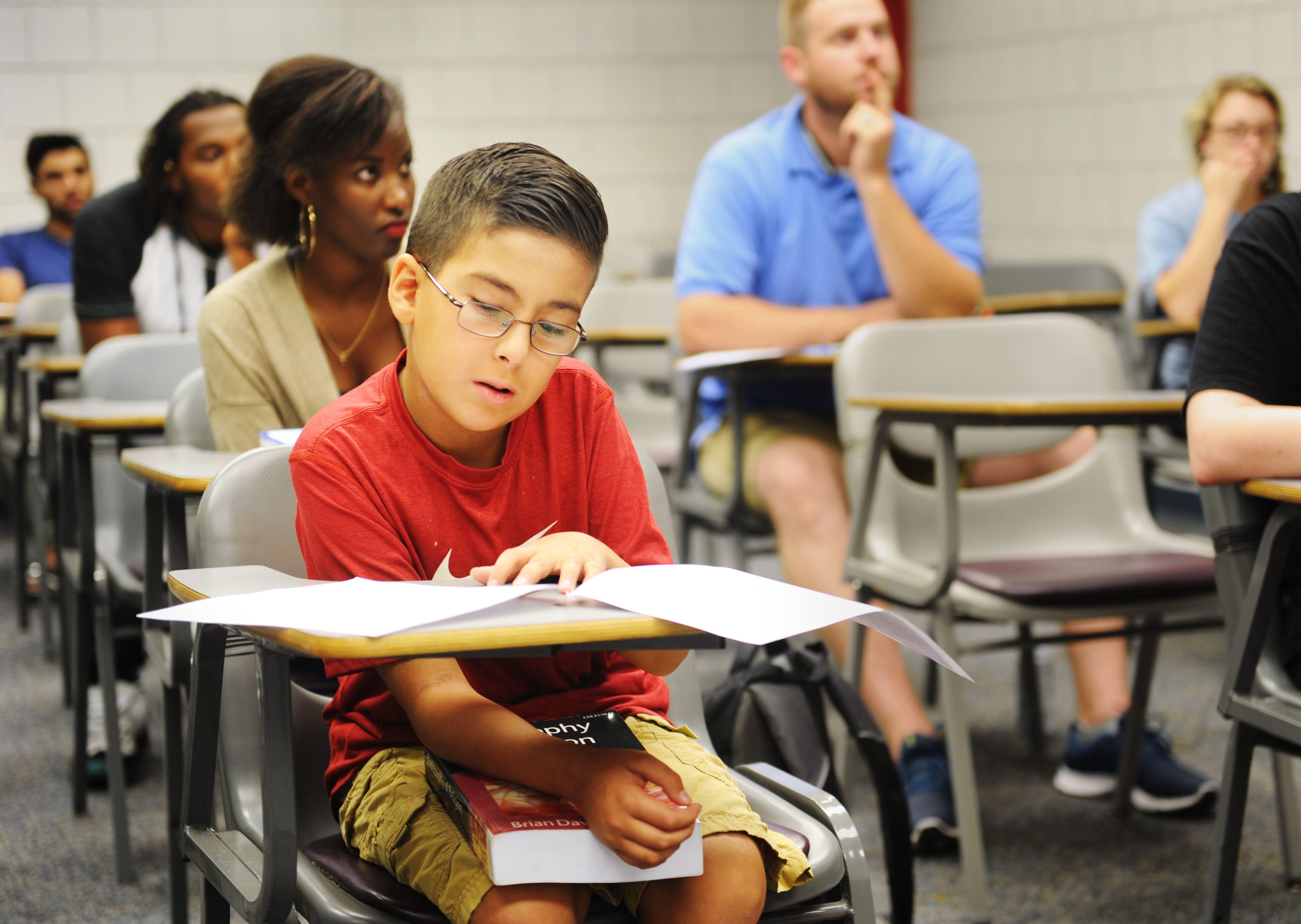 (Ảnh: Nate Guidry/Post-Gazette.com) Thiên tài 9 tuổi