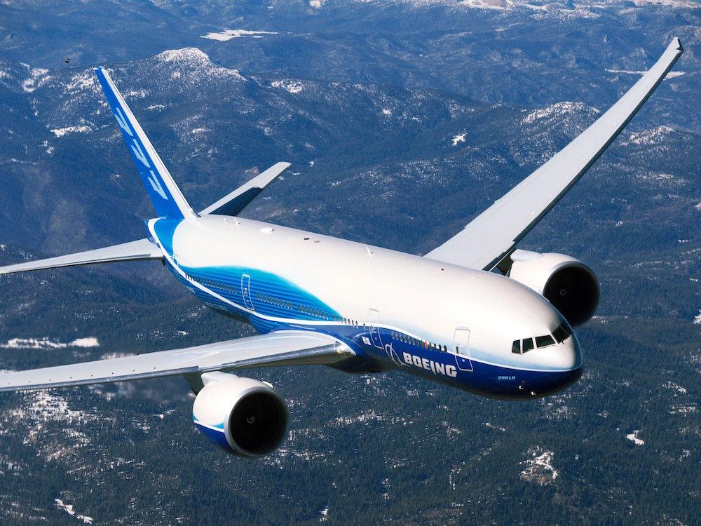 Một máy bay Boeing 777, không có cánh nhỏ. (Ảnh: Boeing)