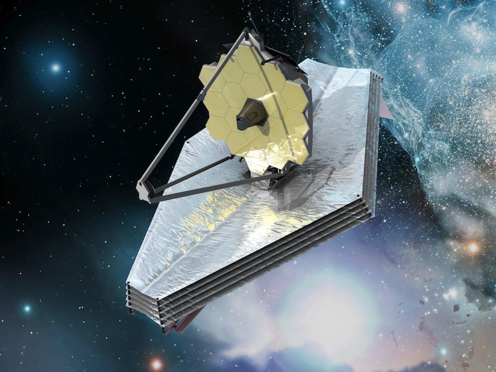 Kính James Webb trong không gian (ảnh: NASA)
