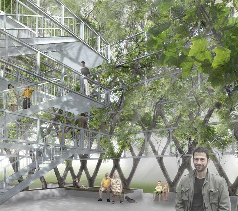 Mô phỏng quang cảnh bên trong công trình platanen-kubus, sau khi hoàn thành. (Ảnh: Ludwig)