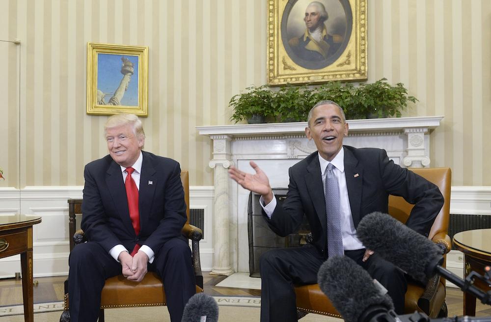 Tổng thống Obama gặp Tổng thống tân cử Donald Trump tại Nhà Trắng hôm 10/11 (Ảnh: Getty Images)