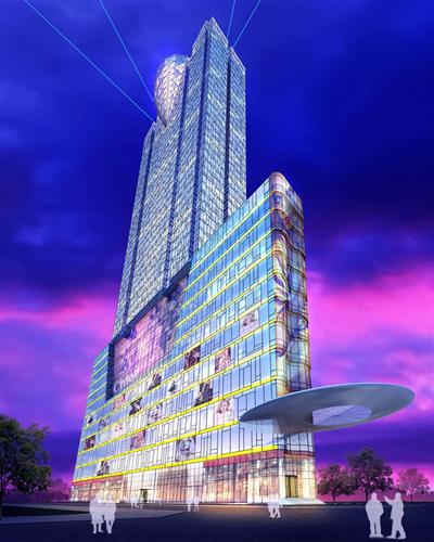 Phối cảnh thiết kế tòa tháp SJC, tòa nhà dự kiến cao thứ 3 tại Sài Gòn. (Nguồn: vipdgroup.com)
