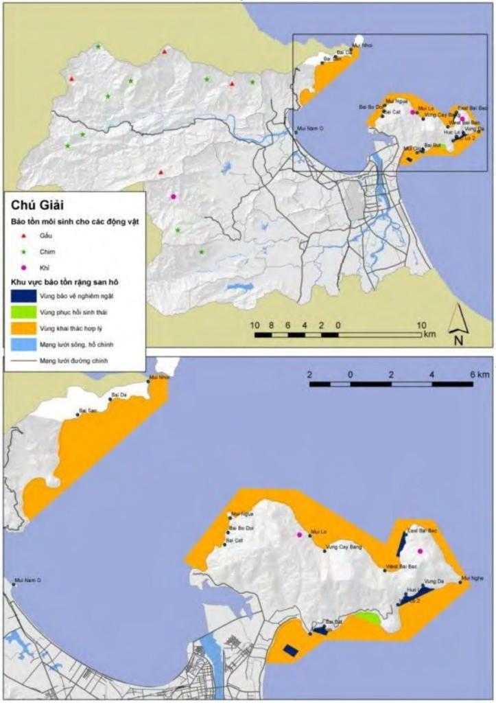Đây là khu vực nằm trong các khu bảo tồn ở TP Đà Nẵng. Dự án nằm ở khu vực đa dạng về sinh học, có quần thể san hô là vùng được đánh dấu cần bảo vệ nghiêm trọng. (Nguồn: Thông tin về tình hình động vật hoang dã của Sở NNPTNT và về dải san hô của Sở TNMT, 2007)