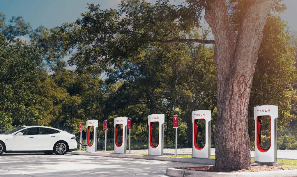 Hình ảnh trạm sạc Supercharger của Tesla (ảnh: Tesla)