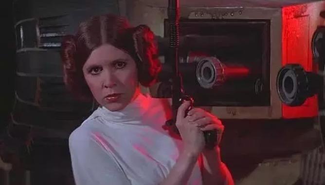 """'Công chúa Leia' trong bộ phim """"Star Wars IV: A New Hope""""."""
