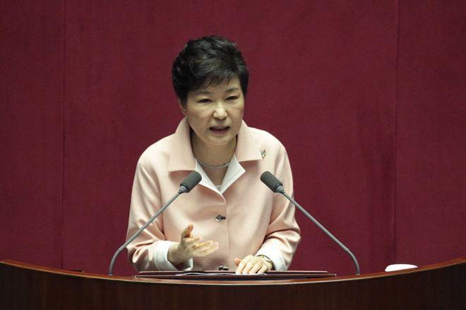 """Tổng thống Hàn Quốc Park Geun Hye từng nói bà """"phó mặc tương lai chính trị của mình cho quốc hội quyết định"""" (ảnh: getty)"""