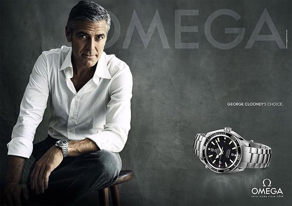 Một mẫu quảng cáo đồng hồ Omega