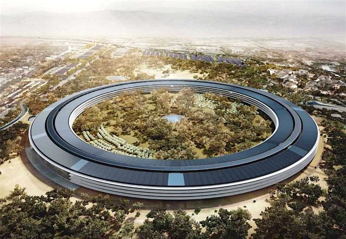 """Trụ sở """"phi thuyền"""" của Apple khi hoàn thành (ảnh: thành phố Cupertino)"""