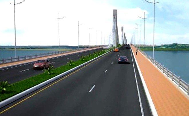 Phác đồ dự án cầu Cửa Đại vượt sông Trà Khúc. (Nguồn: dẫn qua chinhphu.vn)