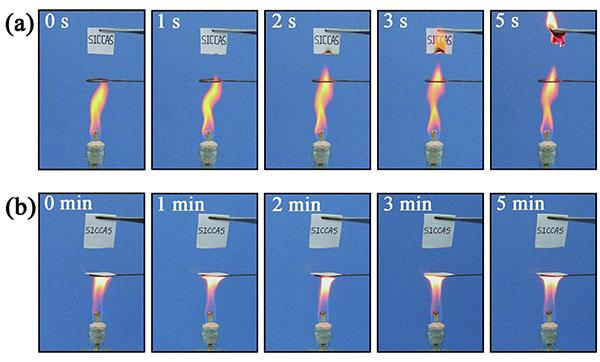 Loại giấy mới này có khả năng chịu được lửa (ảnh: dailychina)