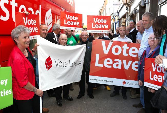Kêu gọi thoát Âu ở Anh năm 2016. (Ảnh Worcester News)