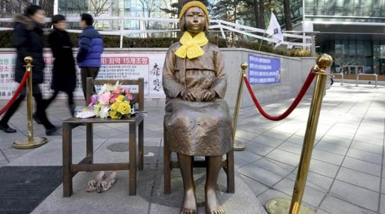 Bức tượng một An uý phụ được đặt đối diện Lãnh sự quán Nhật Bản tại Busan, Hàn Quốc