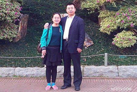 """Chị Kim Biến Linh cho biết, """"sự kiện 709"""" cho thấy chính quyền Trung Quốc rất sợ các luật sư. Hình chụp chung Giang Thiên Dũng và Kim Biến Linh."""