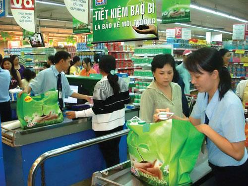 Sử dụng túi và đồ đựng tái chế khi đi chợ và mua sắm sẽ ngăn chặn túi rác ni lông trong nhà bạn (ảnh: thegioimoitruong.vn)