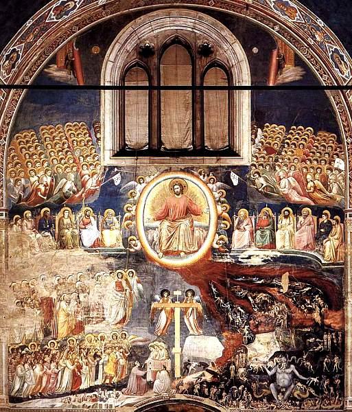 Hình ảnh Cứu thế chủ của Cơ đốc giáo đang phán xét các linh hồn trong sự kiện Đại thẩm phán (Ảnh: Internet)