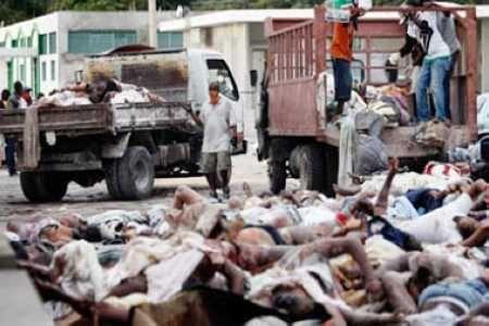 Thi thể nạn nhân trong trận động đất Tứ Xuyên năm 2008.