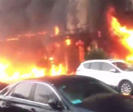 Đám cháy dữ dội tại tỉnh Chiết Giang hôm qua (5/2)