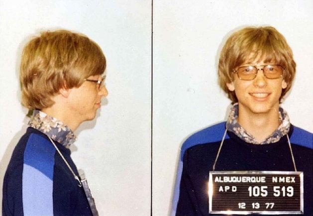 Bức ảnh nổi tiếng này được chụp trong một lần Bill Gates bị phạt vìchạy quá tốc độ ở Albuquerque (Ảnh: Internet)