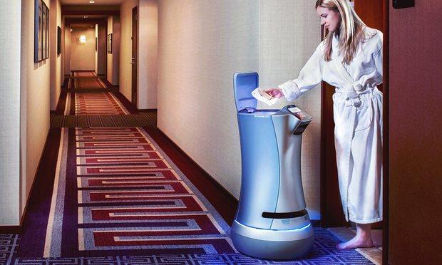 Botlr - robot hỗ trợ cung cấp các đồ vệ sinh tại Khách sạn Aloft (Ảnh: Savioke)