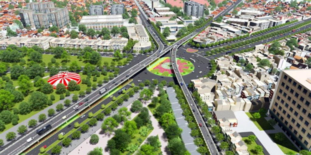 cầu vượt vào sân bay Tân Sơn Nhất