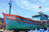 Đà Nẵng: Trưng bày tàu cá bị đâm chìm tại vùng biển Hoàng Sa