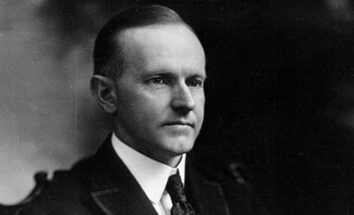 Calvin Coolidge, Tổng thống Mỹ thứ 30 của nước Mỹ.