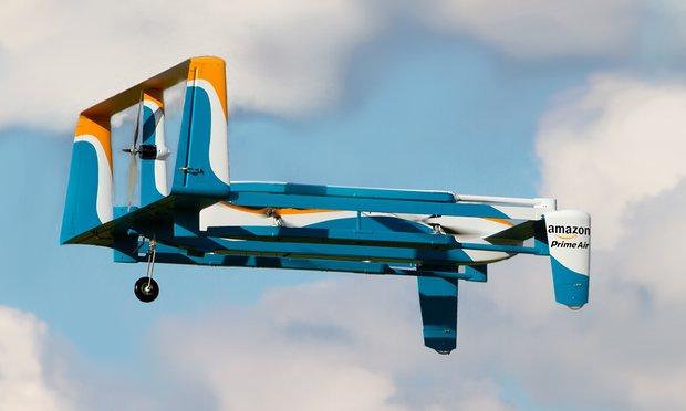 Máy bay tự lái Prime Air có thể giao hàng trong vòng 30 phút (Ảnh: Amazon)