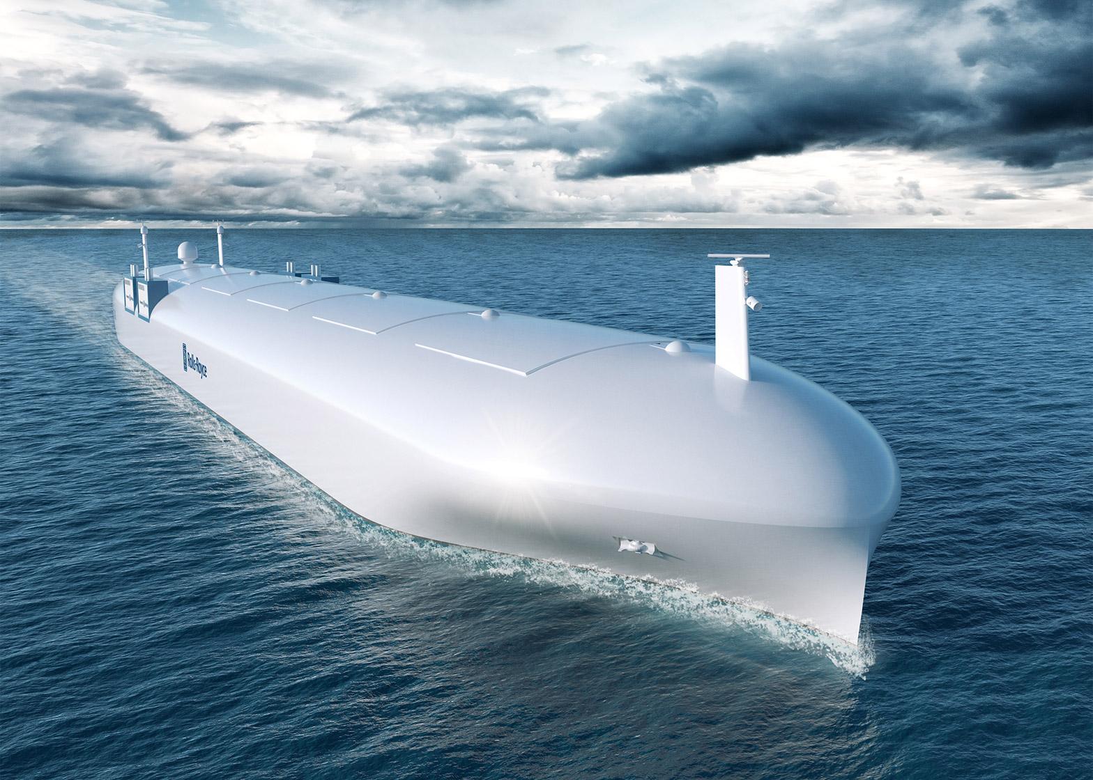 1 mẫu concept thiết kế tàu tự lái của Roll Royce