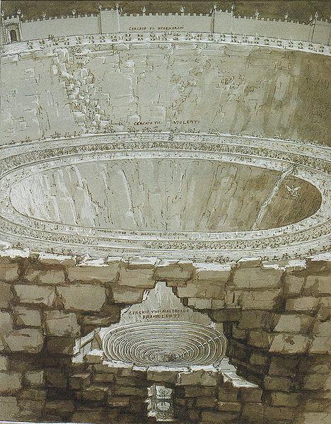 Vũ trụ trong Thần Khúc của Dante - Kỳ IX: Hỏa ngục - Cấu trúc của ba tầng Địa ngục cuối cùng