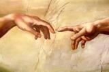 1 phần bức tranh The Creation of Adam (tạm dịch - Chúa tạo ra Adam) của Michaelangelo trên trần của nhà nguyện Sistene (Ảnh: Wiki)