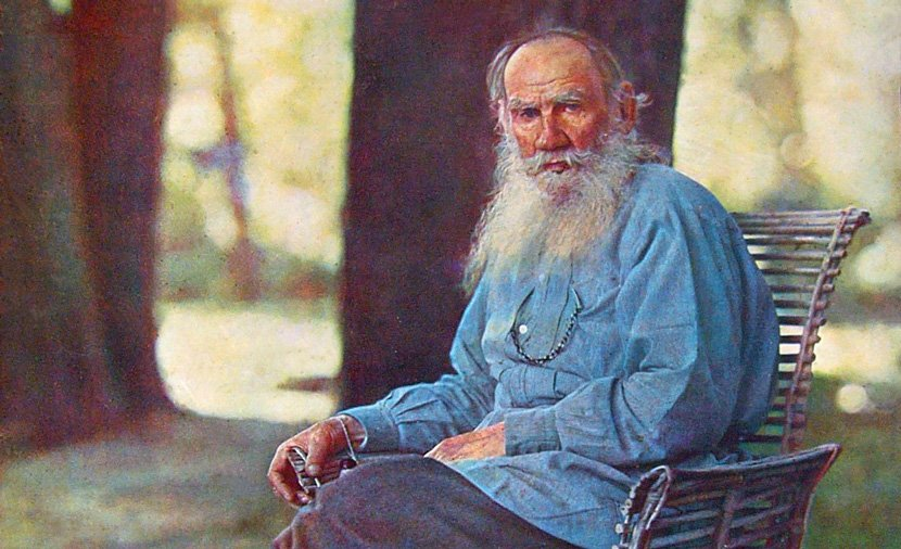 Leo Tolstoy at his estate, Yasnaya Polyana, in 1908. (Ảnh: wiki)