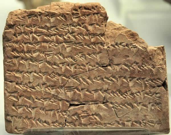 Một cuốn niên giám Babylon, đề cập đến vị trí của các hành tinh trong tương lai (Ảnh: Bảo tàng Anh)