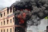 Cháy lớn tại cửa hàng gần chợ hóa chất Kim Biên