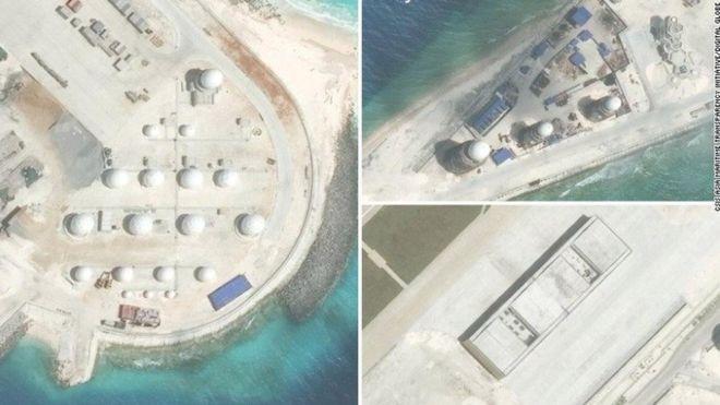 Trung Quốc xây dựng trên đá Chữ Thập (ảnh: CSIS)
