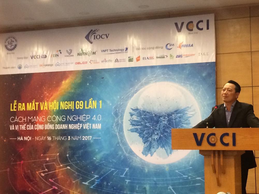 Ông Lê Văn Lợi, viện trưởng ITB - VCCI chia sẻ tại hội thảo (ảnh: trithucvn.net)