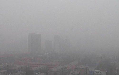 Sương mù ô nhiễm tháng 12/2016 tại miền nam tỉnh Hà Bắc.