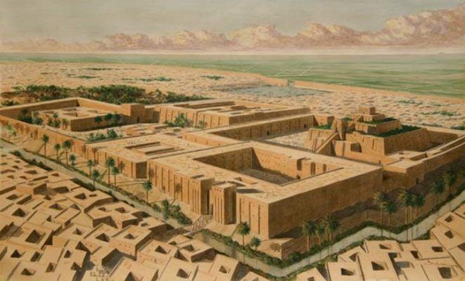 Bản tái hiện thành phố Sumer của thành Ur. (Ảnh: Kings Academy)