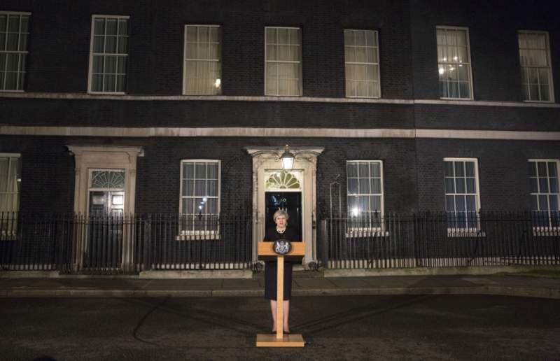 Thủ tướng Anh Theresa May phát biểu trong buổi tối ngày xảy ra vụ tấn công
