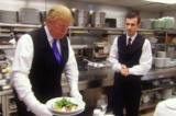 Video: Một lần Donald Trump thử làm phục vụ tại khách sạn