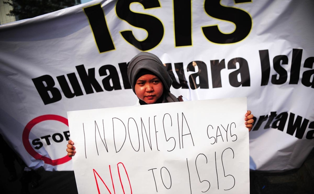 (WORLD SECTION) INDONESIA-JAKARTA-IS-JOURNALIST-RALLY