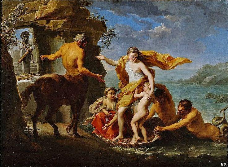 Người anh hùng Achilles được gửi gắm cho Chiron từ khi còn nhỏ - Nhân mã Chiron là một ngoại lệ, vì ông là một nhân mã uyên bác, là vị thầy của rất nhiều anh hùng. (Ảnh qua)