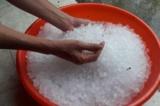 Trận mưa đá lớn bất ngờ đổ xuống Lâm Đồng