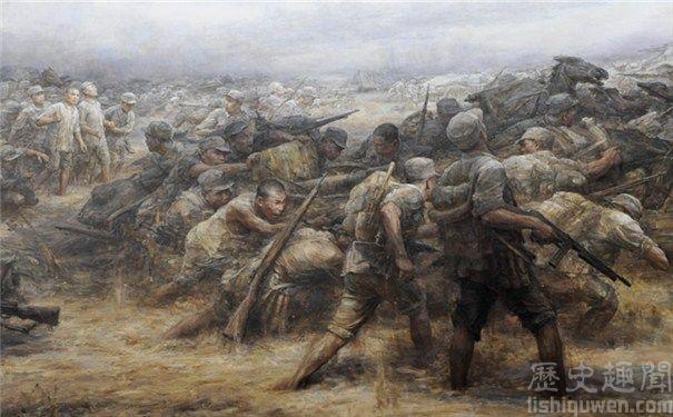 Tranh vẽ minh họa thời nội chiến giữa ĐCSTQ và Quốc Dân Đảng.